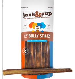 "jack & pup jack & pup Bully Sticks 12"" Odor-Free 1 lb"