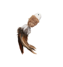 Kong Cat Toys  Crinkle Fish w/ Feathers