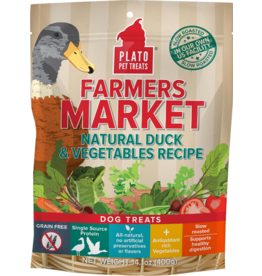 Plato Plato Dog Jerky Treats Farmer's Market Natural Duck & Vegetables 14.11 oz
