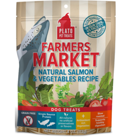 Plato Plato Dog Jerky Treats Farmer's Market Natural Salmon & Vegetables 14 oz