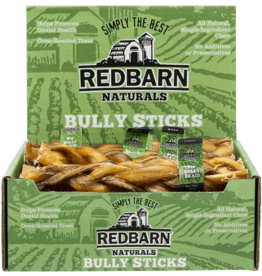 "Red Barn Red Barn Dog Bully Sticks  9"" Braided Bully Stick CASE"