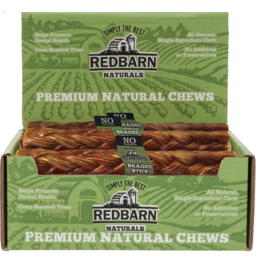 Red Barn Red Barn Dog Treats CASE Braided Esophagus Large