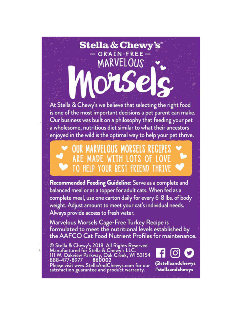 Stella & Chewy's Stella & Chewy's Canned Cat Food Marvelous Morsels Turkey 5.5 oz single