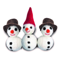Distinctly Himalayan Distinctly Himalayan Christmas Cat Toy Snowman 2 pack