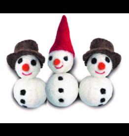 Distinctly Himalayan Distinctly Himalayan Christmas Cat Toy Snowman 2 pack