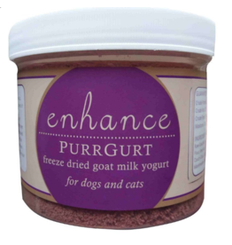 Steve's ENHANCE Freeze Dried Goat Milk Purrgurt 1.6 oz Glass Jar