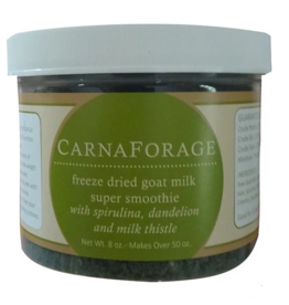 Steve's ENHANCE Freeze Dried Goat Milk CarnaForage Super Smoothie 1.6 oz Glass Jar