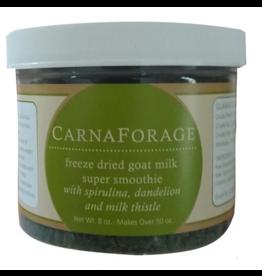 Steve's ENHANCE Freeze Dried Goat Milk CarnaForage Super Smoothie 1.6 oz Glass Jar