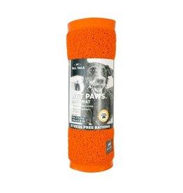 """Tall Tails DISC Tall Tails Wet Paws Bathtub Mat Orange 39"""" x 15.75"""""""