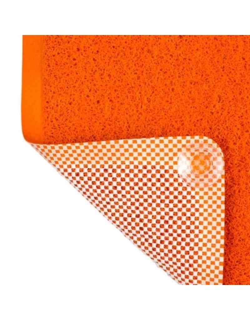 """Tall Tails Tall Tails Wet Paws Bathtub Mat Orange 39"""" x 15.75"""""""