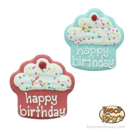 Bosco and Roxy's Bosco & Roxy's Birthday Collection Happy Birthday Cupcakes single