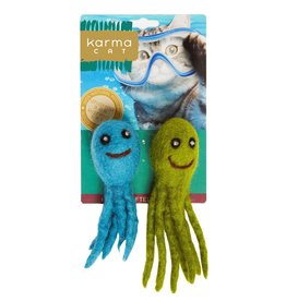 Distinctly Himalayan 2 Pack Cat Toy Octopus