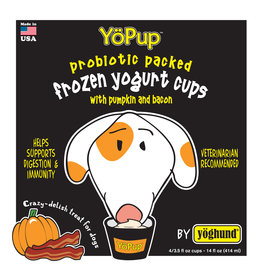 Yoghund Yoghund Frozen Yogurt CASE Pumpkin & Bacon 4 pack / 3.5 oz cups (*Frozen Products for Local Delivery or In-Store Pickup Only. *)