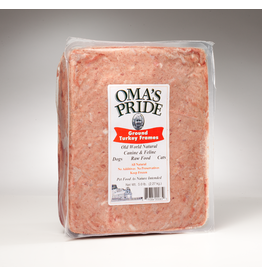Oma's Pride Oma's Pride O'Paws Dog Raw Frozen Ground Turkey Frames 5 lb CASE (*Frozen Products for Local Delivery or In-Store Pickup Only. *)