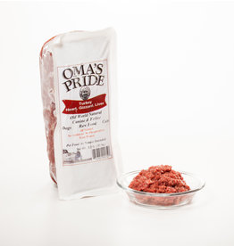 Oma's Pride Oma's Pride O'Paws Dog Raw Frozen Food Ground Turkey Organs 2 lb (*Frozen Products for Local Delivery or In-Store Pickup Only. *)