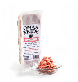 Oma's Pride Oma's Pride O'Paws Dog Raw Frozen Food Ground Lamb & Bone 2 lb (*Frozen Products for Local Delivery or In-Store Pickup Only. *)