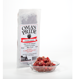 Oma's Pride Oma's Pride O'Paws Dog Raw Frozen Food Venison 1 lb (*Frozen Products for Local Delivery or In-Store Pickup Only. *)