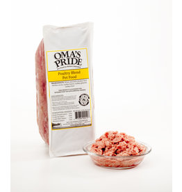 Oma's Pride Oma's Pride O'Paws Dog Raw Frozen Food Poultry Blend 2 lb (*Frozen Products for Local Delivery or In-Store Pickup Only. *)