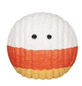 HuggleHounds Huggle Hounds Halloween Candy Corn Ruff-Tex Durable Squeaky Ball Small