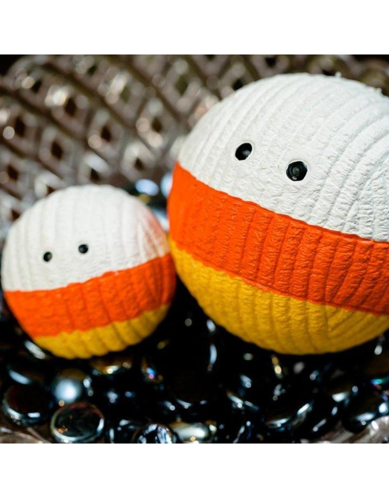 HuggleHounds Huggle Hounds Halloween Candy Corn Ruff-Tex Durable Squeaky Ball Large
