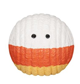 HuggleHounds Huggle Hounds Halloween Candy Corn Ruff-Tex Durable Squeaky Ball Large