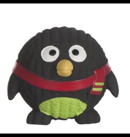 HuggleHounds Huggle Hounds 2019 Christmas Penelope Penguin Ruff-Tex Squeaky Ball Small