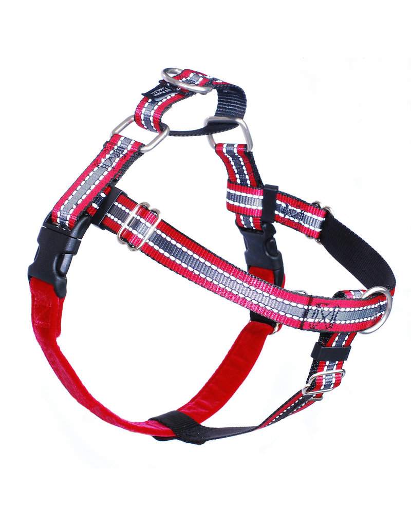 "2 hounds Design 2 Hounds Design Freedom No-Pull Harness 1"" Reflective Extra Large (XL) Red"