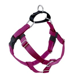 "2 hounds Design 2 Hounds Design Freedom No-Pull 1"" Harness Raspberry Extra Large (XL)"