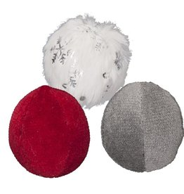 HuggleHounds Huggle Hounds 2019 Christmas Sparkle N Shine HuggleCat Catnip Wee Ball 3 pack