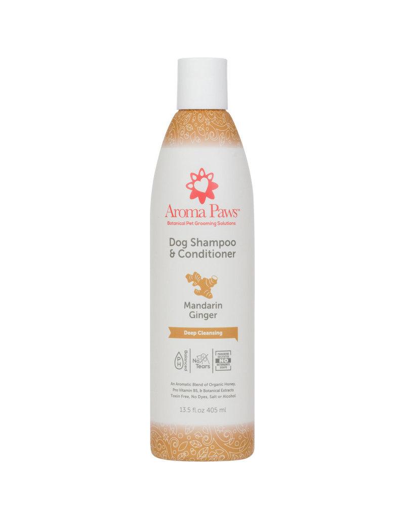 Aroma Paws Aroma Paws Dog Shampoo & Conditioner Mandarin Ginger 13.5 oz