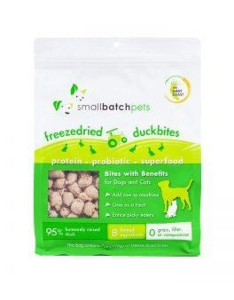 Smallbatch Pets Smallbatch Freeze Dried Dog Treats Bites | Duck 7 oz Single