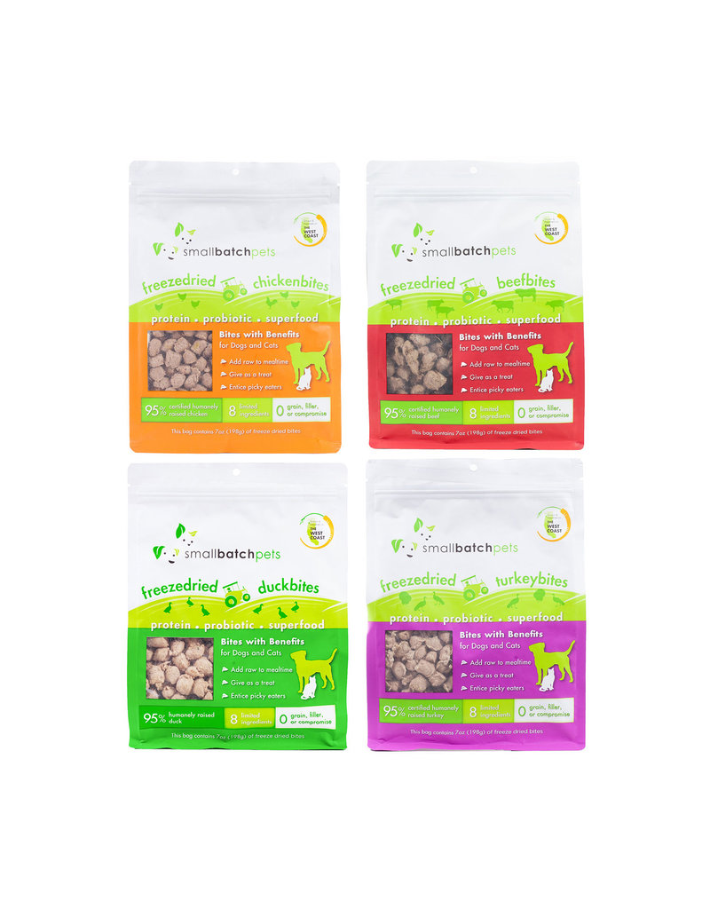 Smallbatch Pets Smallbatch Freeze Dried Dog Treats Bites | Turkey 7 oz Single