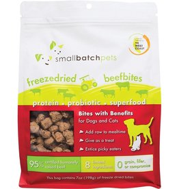 Smallbatch Pets Smallbatch Freeze Dried Dog Treats Bites | Beef 7 oz single