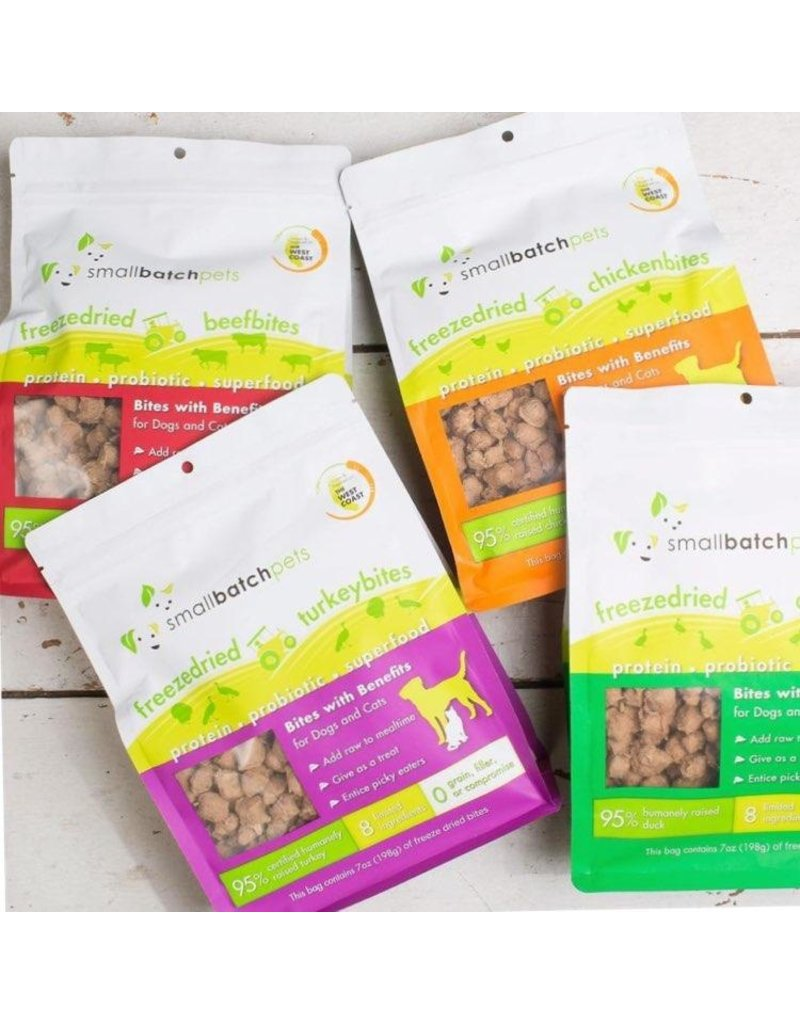 Smallbatch Pets Smallbatch Freeze Dried Dog Treats Bites | CASE Beef 7 oz