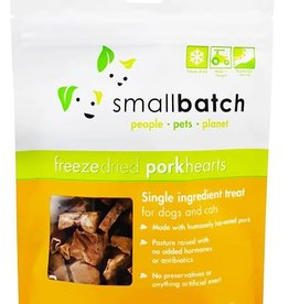 Smallbatch Pets Smallbatch Freeze Dried Treats | Pork Hearts 3.5 oz Single