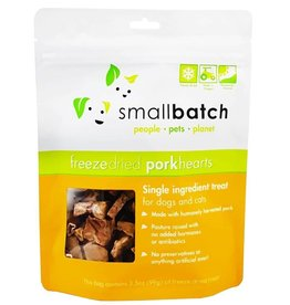 Smallbatch Pets Smallbatch Freeze Dried Treats | Pork Hearts 3.5 oz