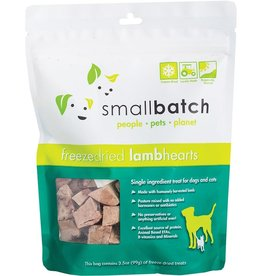Smallbatch Pets Smallbatch Freeze Dried Treats | CASE Lamb Hearts 3.5 oz