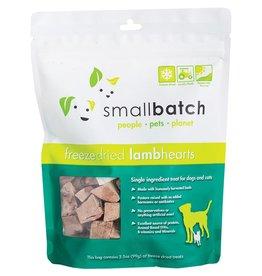 Smallbatch Pets Smallbatch Freeze Dried Treats   CASE Lamb Hearts 3.5 oz