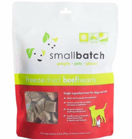 Smallbatch Pets Smallbatch Freeze Dried Treats | CASE Beef Hearts 3.5 oz