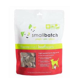 Smallbatch Pets Smallbatch Freeze Dried Treats   CASE Beef Hearts 3.5 oz