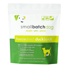 Smallbatch Pets Smallbatch Freeze Dried Dog Food Sliders | CASE Duck 14 oz