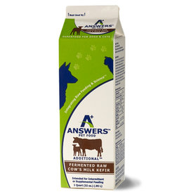 Answer's Pet Food Answers Cow Kefir CASE 32 oz (*Frozen Products for Local Delivery or In-Store Pickup Only. *)