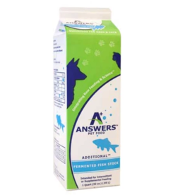 Answer's Pet Food Answers Stock Fermented Fish 32 oz CASE (*Frozen Products for Local Delivery or In-Store Pickup Only. *)