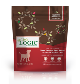 Nature's Logic Nature's Logic Raw Frozen Dog Patties Beef 3.2 oz Mini Patties 6 lb (*Frozen Products for Local Delivery or In-Store Pickup Only. *)