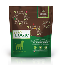 Nature's Logic Nature's Logic Raw Frozen Dog Patties Venison 3 lb (*Frozen Products for Local Delivery or In-Store Pickup Only. *)