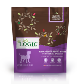 Nature's Logic Nature's Logic Raw Frozen Dog Patties Rabbit 8 oz Patties 6 lb (*Frozen Products for Local Delivery or In-Store Pickup Only. *)