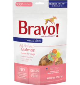 Bravo Bravo Freeze Dried Dog Treats  Salmon Bonus Bites 2 oz