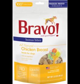 Bravo Bravo Freeze Dried Dog Treats Chicken Breast Chunks Bonus Bites 3 oz