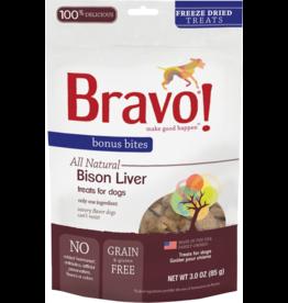 Bravo Bravo Freeze Dried Dog Treats Bison Liver Bonus Bites 3 oz