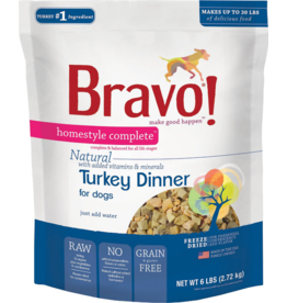 Bravo Bravo Homestyle Complete Dehydrated Dog Food  Turkey 6 lb